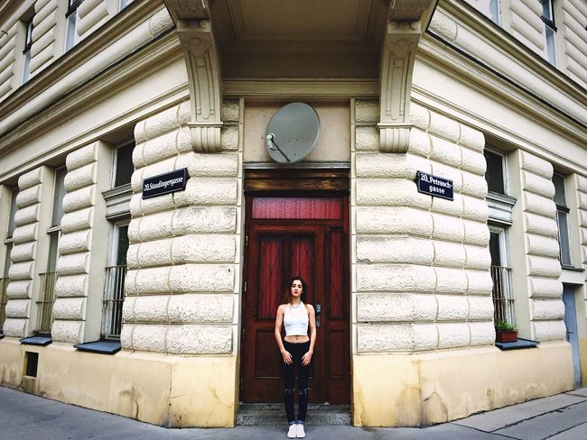Architecture Symmetrical Urban Geometry Old Buildings Girl Open Edit Amazing Architecture
