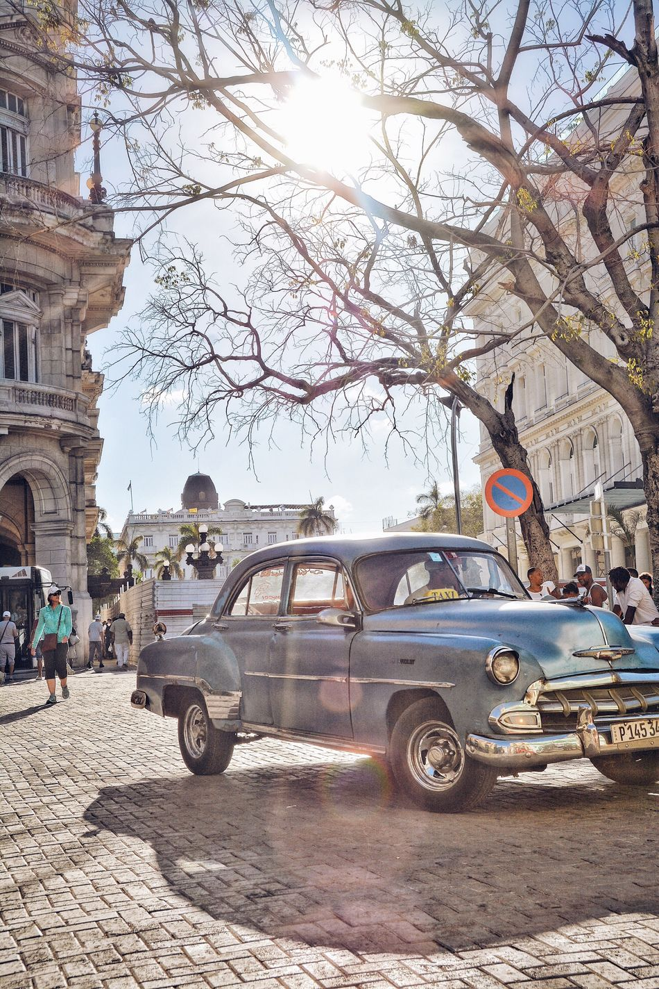 Cuba, where taxis are colorful 1950s' Chevys. Car Transportation Street City Mode Of Transport Sunlight Architecture Outdoors Land Vehicle Vintage Cars Vintage Streetphotography City Life Chevrolet Chevy Old School 50's Style Back In Time 1950s