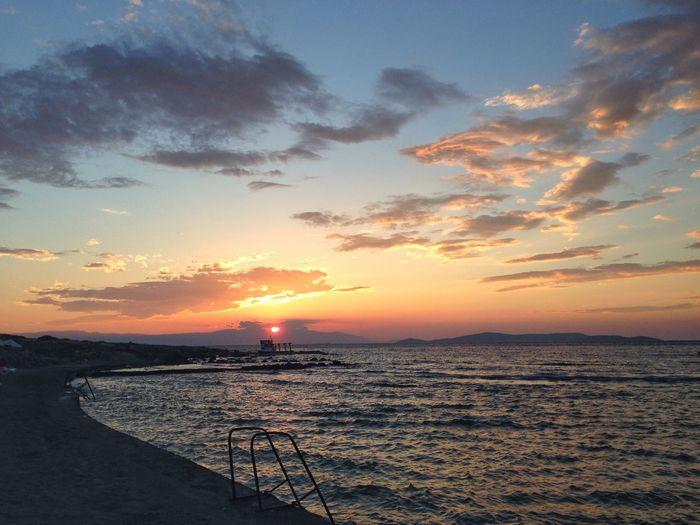 Sunset Clouds And Sky Seaside Çeşme Izmir Sunsetizmir
