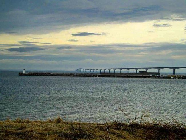 P.E.I Confederation Bridge ✌ Travel Scenery Adventure Canada Canadian Canadiansoil Pei Princeedwardisland Confederationbridge Peiconfederationbridge View Trip Ocean Water Bridge Spring