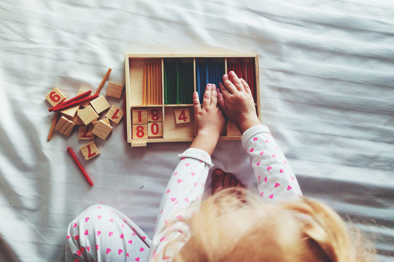 Beautiful stock photos of liebe, Bed, Childhood, Counting, Cropped