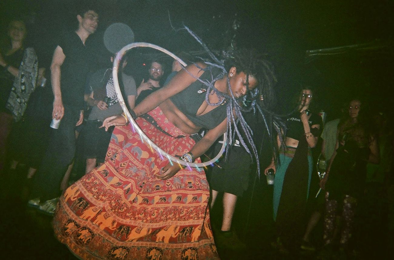 For The Love Of Music Hula Hooping  Analog Analogue Photography Filmisnotdead 35mm New York City