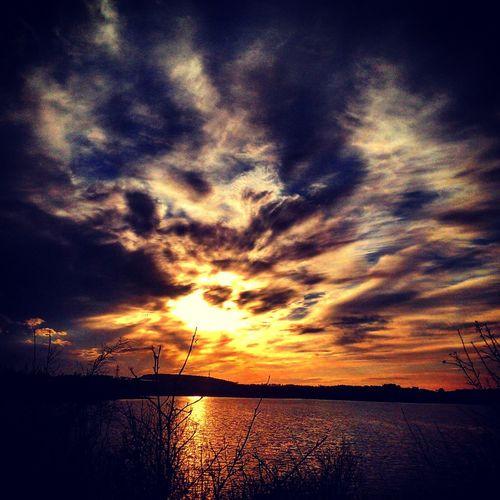 Sunset Beauty In Nature Cloud - Sky Norway🇳🇴 Stokkavannet Beauty In Nature Outdoors