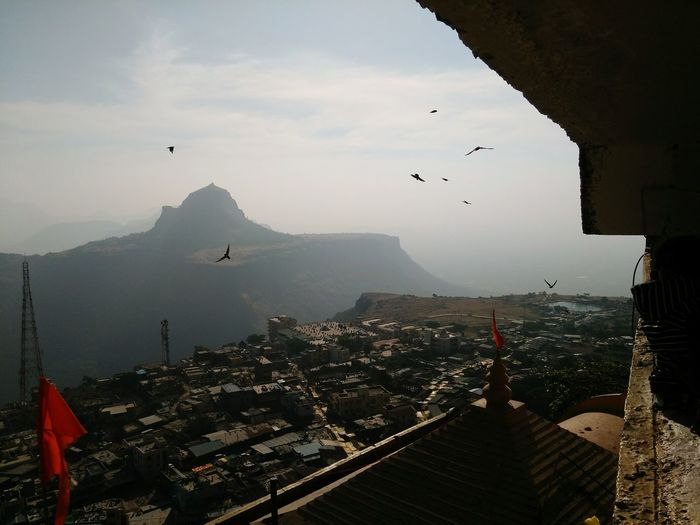 A Look Of Maharahtra Bird View Saptasrungi Temple