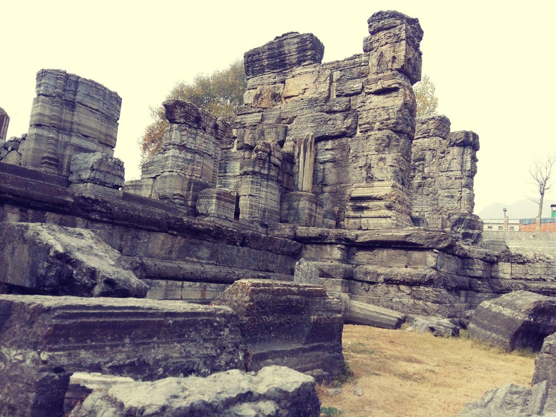 Monument Awantipora Ruins Stone