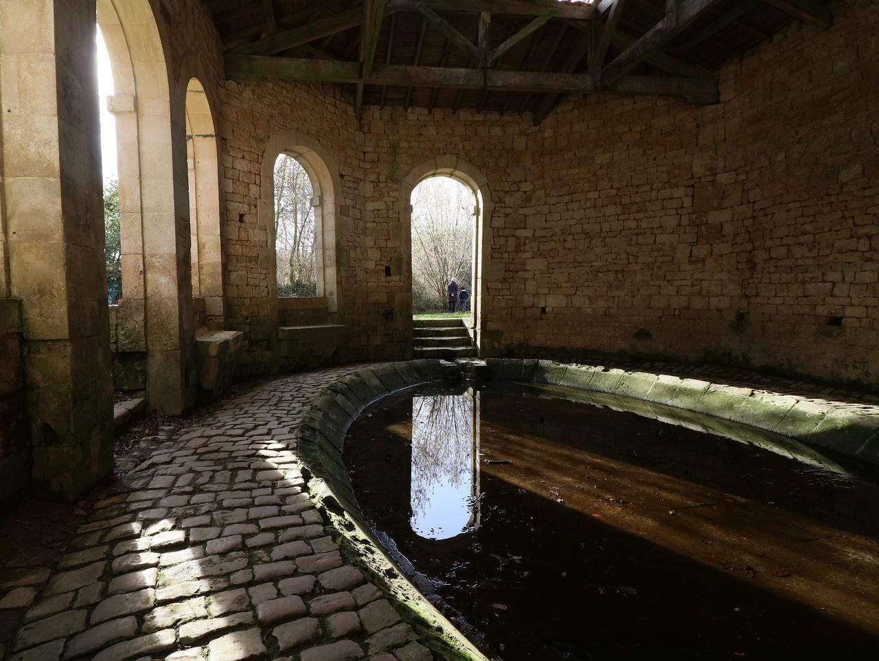 Architecture Day Eye4photography  EyeEm Best Shots Indoors  Lavoir Medieval Architecture No People Old Buildings Reflection Water