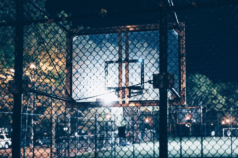 Beautiful stock photos of basketball, Basketball, Basketball Hoop, Built Structure, Chain Link Fence