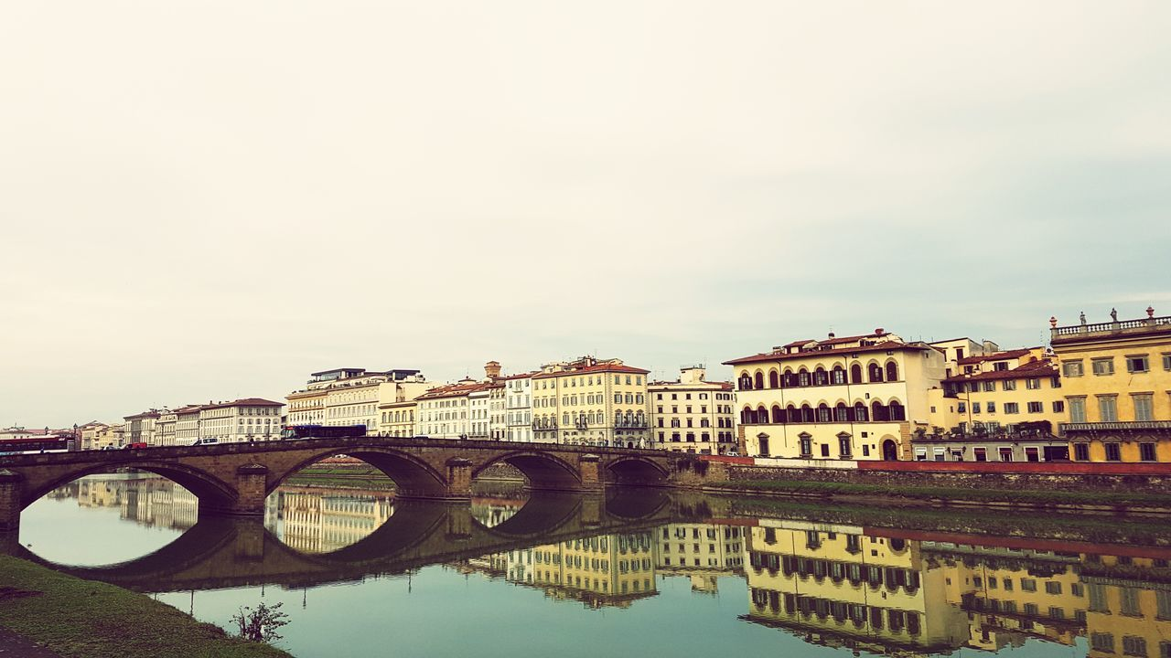 Bridge. Bridge - Man Made Structure Reflection Water City Connection Travel River Architecture Travel Destinations Vacations Cityscape Day Outdoors Italy🇮🇹