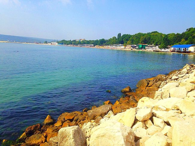 Varna,Bulgaria🐬 Sea Colour Of Life Colorful Colorfull Sea And Sky Seaside Seascape Landscape Sunny Day Beautiful Happy IPhone IPhoneography IPhone5 MyPhotography IMography Sea View Summer Summertime Nature_collection Naturelovers Blue Wave Color Palette