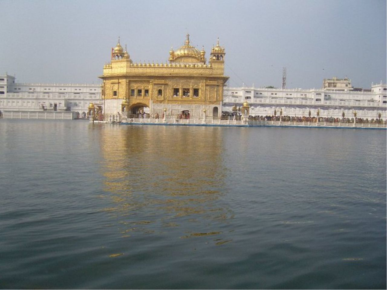 Architecture Gold Golden Temple Holy Place Lake People Religious  Sky