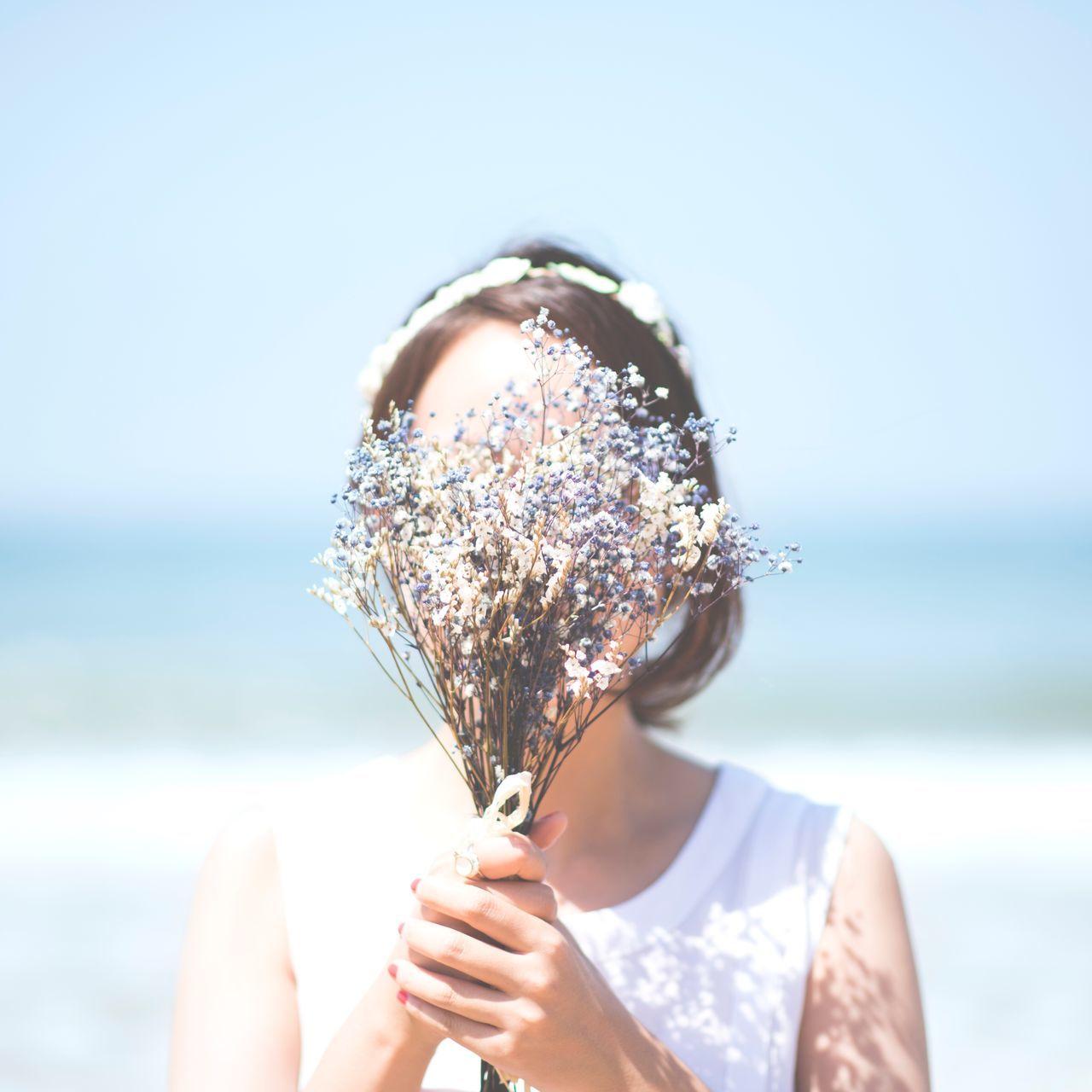 Sea Datesnap Snap Photo Selfwedding Flower Dry Flower