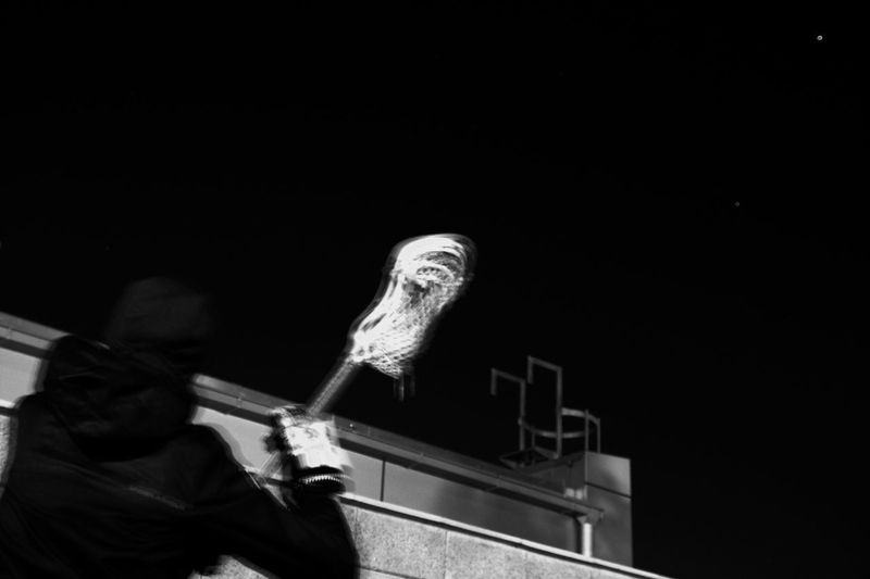 Sport In The City Lacrosse Vienna Practicing Sports Wallballs Under The Stars Nightphotography Blackandwhite Life In Motion