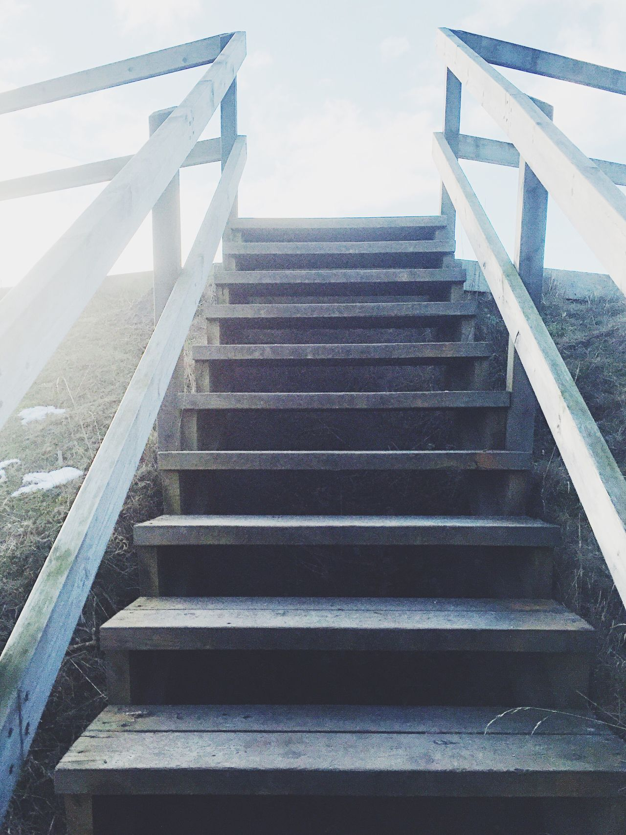 Railing Staircase Steps And Staircases Steps Stairs Hand Rail Stairway Day The Way Forward Sky No People Outdoors Zigzag Architecture