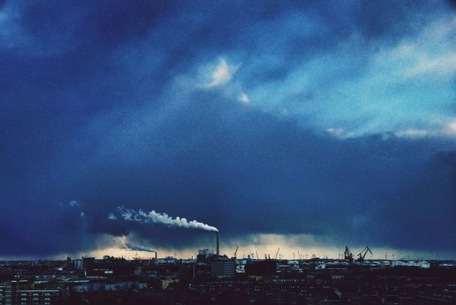 Cloud contrast. Skyline November Amsterdam Amazing View Clouds And Sky Rainy Days Sillhouette View From The Balcony Bad Weather