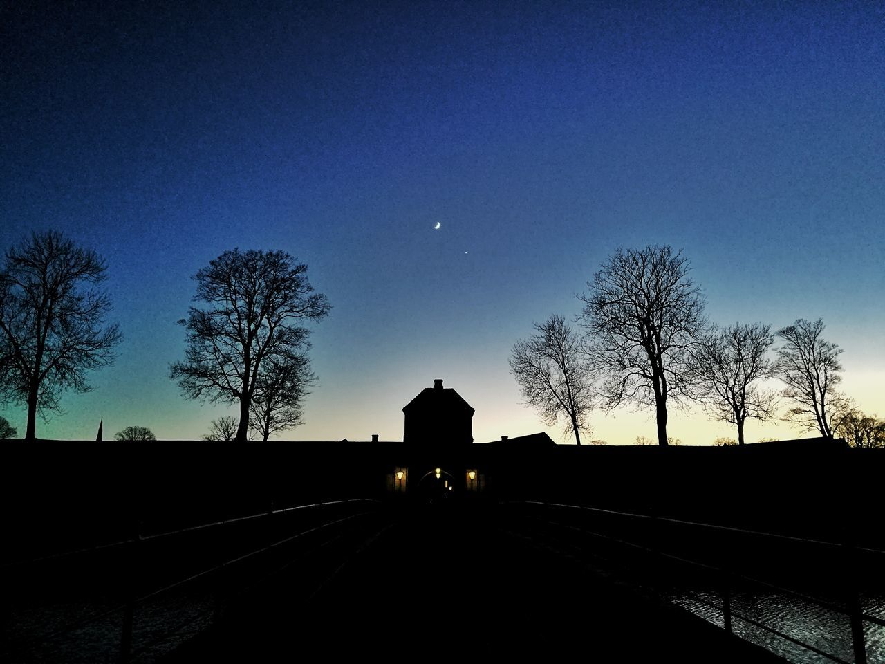 Silhouette Sky Mode Of Transport Transportation Land Vehicle Tree Night Star - Space No People Astronomy Sunset Star Field Nature Constellation Beauty In Nature Outdoors