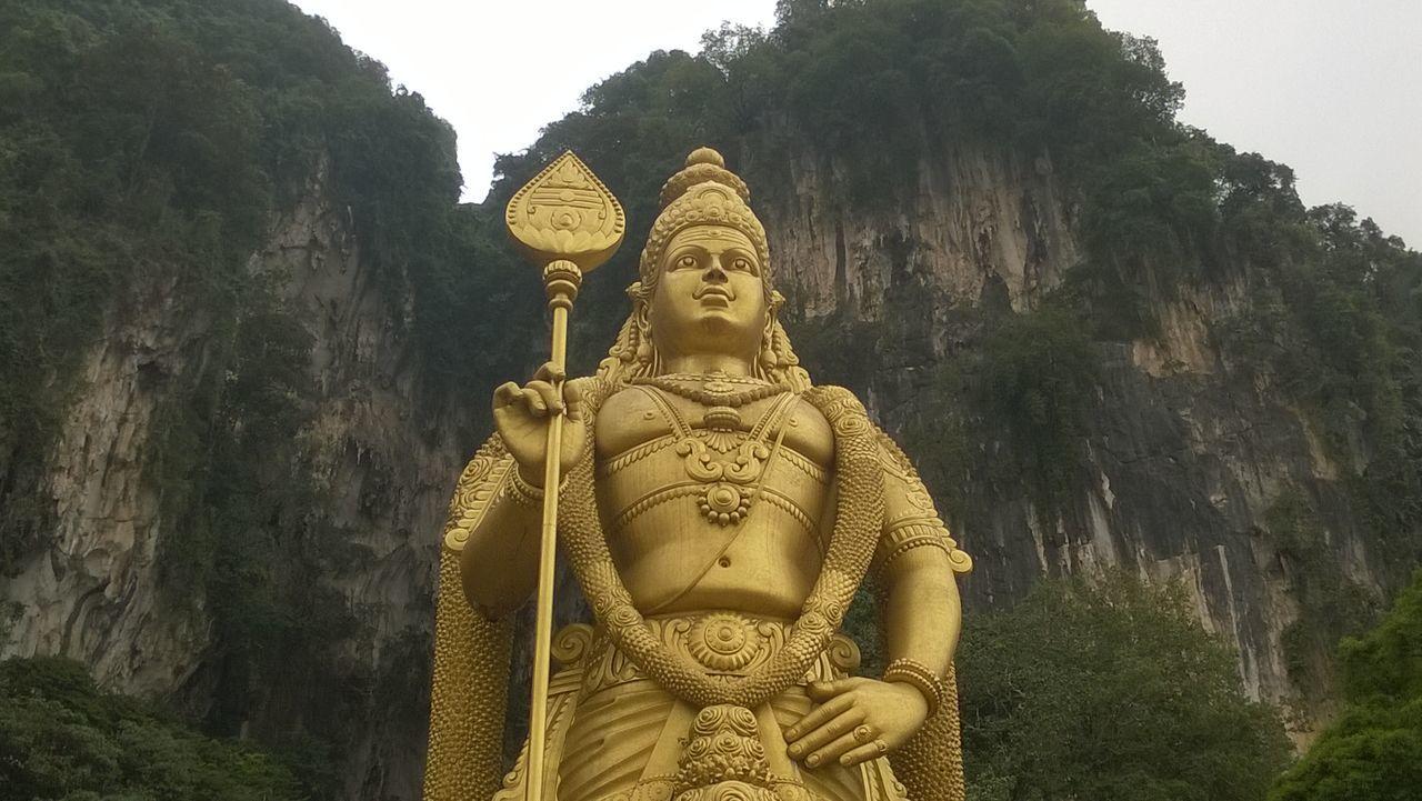 Batu Caves -Malaysia Day Mountain Outdoors Religion Statue