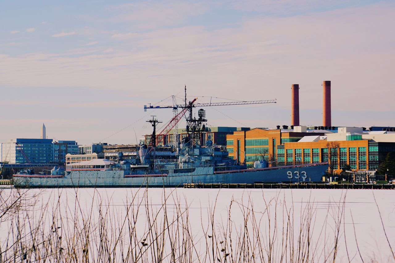 Not the Potemkin, it's the USS Barry in Washington, DC. Battleship Ship River Riverside Washington, D. C. Washington DC The Street Photographer - 2015 EyeEm Awards Open Edit For Everyone Sunny Day Snow