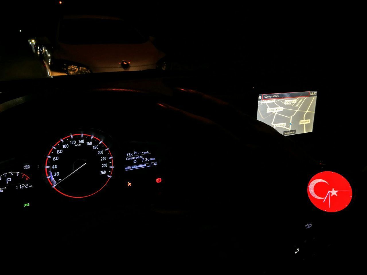 Illuminated Dark Control Panel Night Close-up Mazda Mazdaspeed3  MaZda3 HuaweiP9 HuaweiWatch
