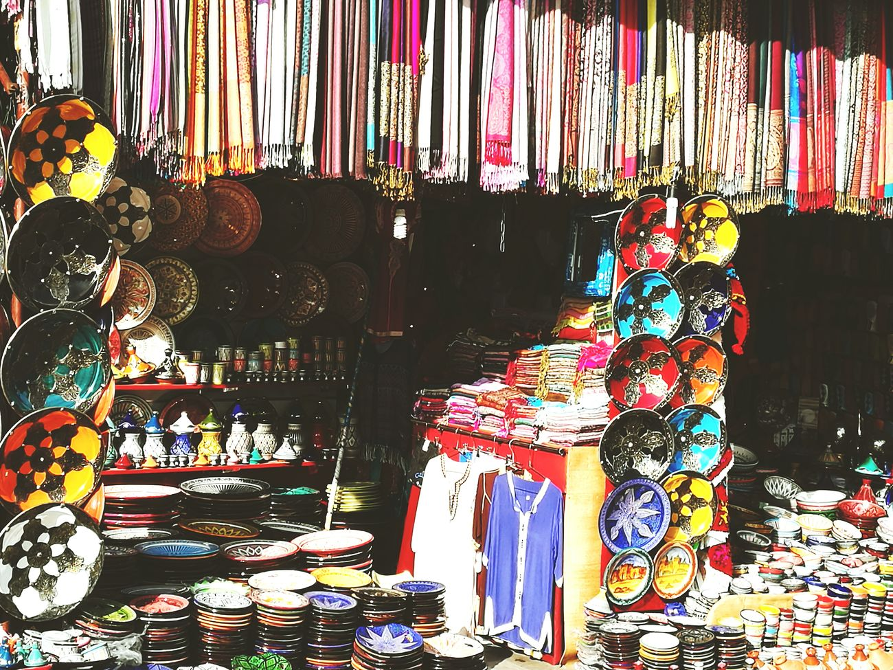 Beautiful colors showing diverse items, each item has its own story. Multi Colored Variation Large Group Of Objects Retail  Store Day No People Morocco 🇲🇦 Outdoors Marrakech