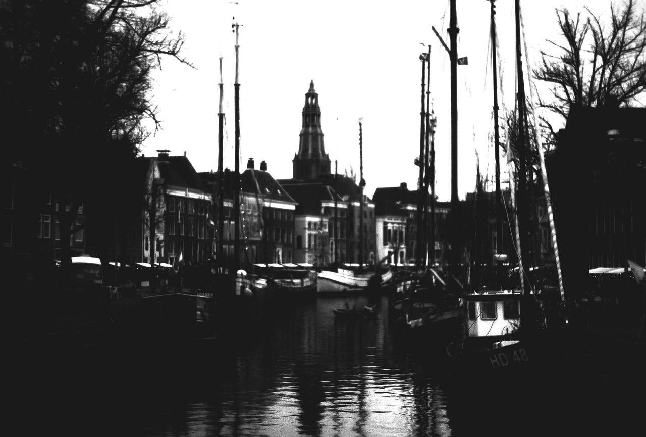Holland Blackandwhite Yashicafx3super2000 Ilforddelta100 Ships Water