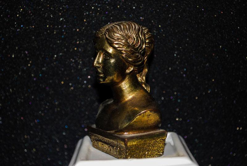 Art Black Background Bronze Bronze Sculpture Bust  Close-up Culture Day Gold Colored History Indoors  Milo Myth Mythology No People Sculpture Statue Venus De Milo