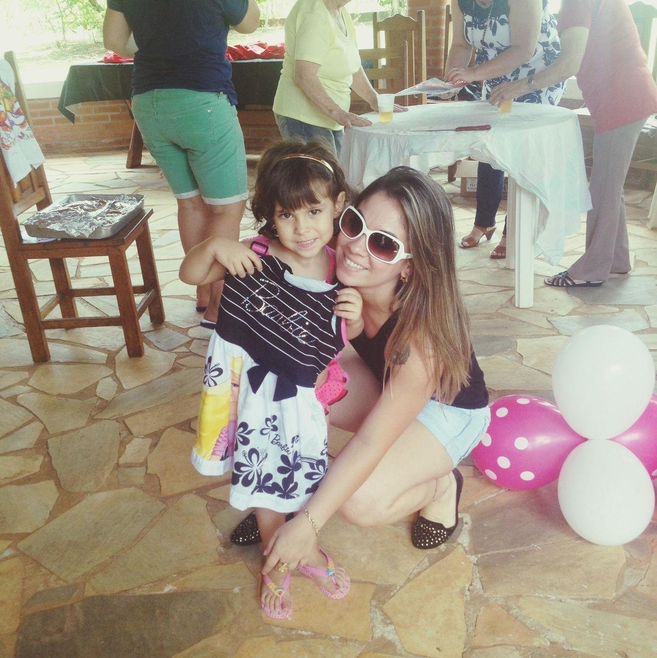 domingo de diversao c a minha princesa! KidsBday Família Amomto
