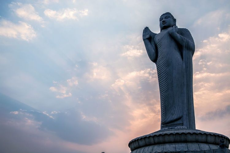 Hyderabad Buddha Statue Sky Peace ✌