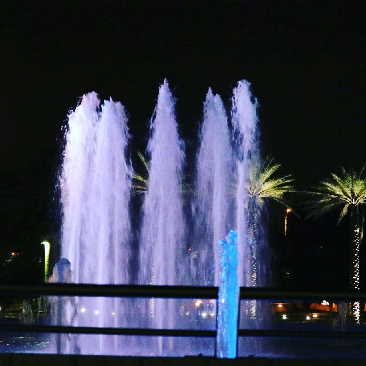 Fountain . Night Florida JacksonvilleFL Park Downtown Romantic❤