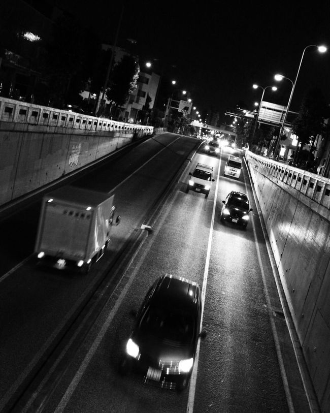 night cruising Japan Hello World Relaxing Taking Photos Enjoying Life Walking Around From My Point Of View EyeEm Best Shots EyeEm Gallery Streetphotography Light And Shadow Shadow Monochrome Traffic 残想 衝動 環七 Night