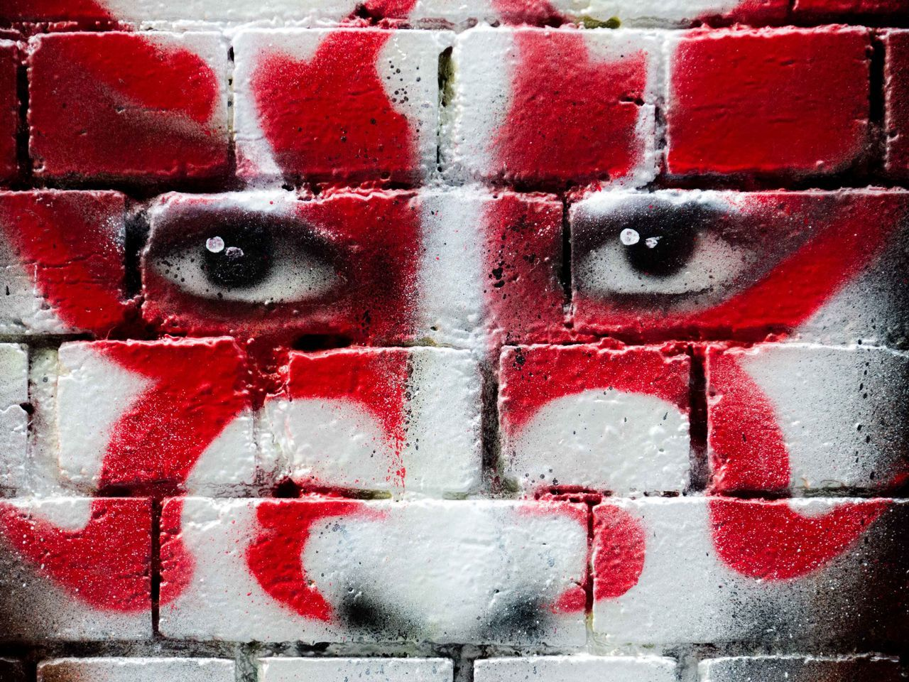 Backgrounds Close-up Day Eye Full Frame Graffiti No People Outdoors Red Tattoo