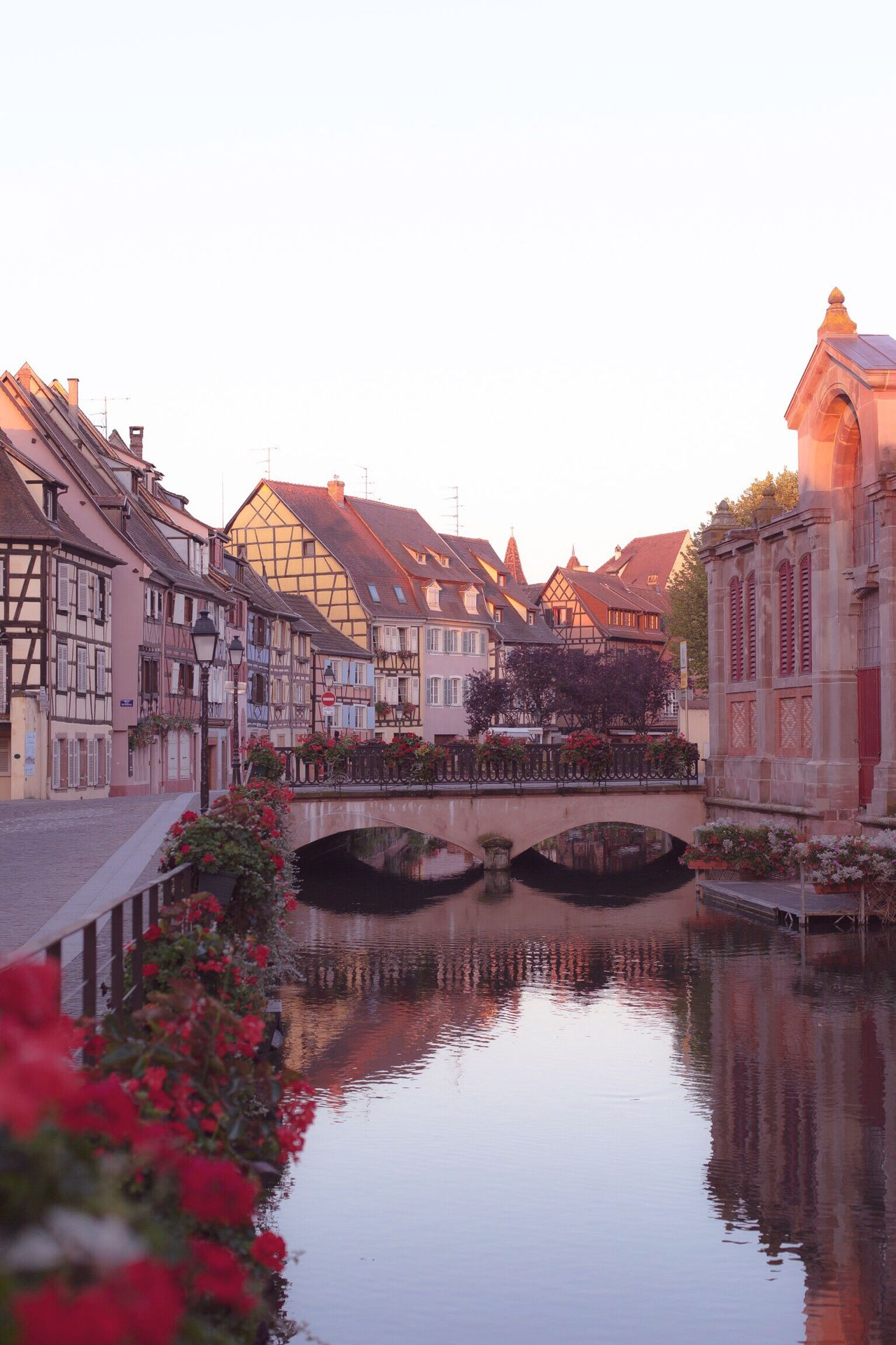 Architecture Built Structure Water Building Exterior Reflection Clear Sky Colmar, Alsace, France No People Day Outdoors Sky