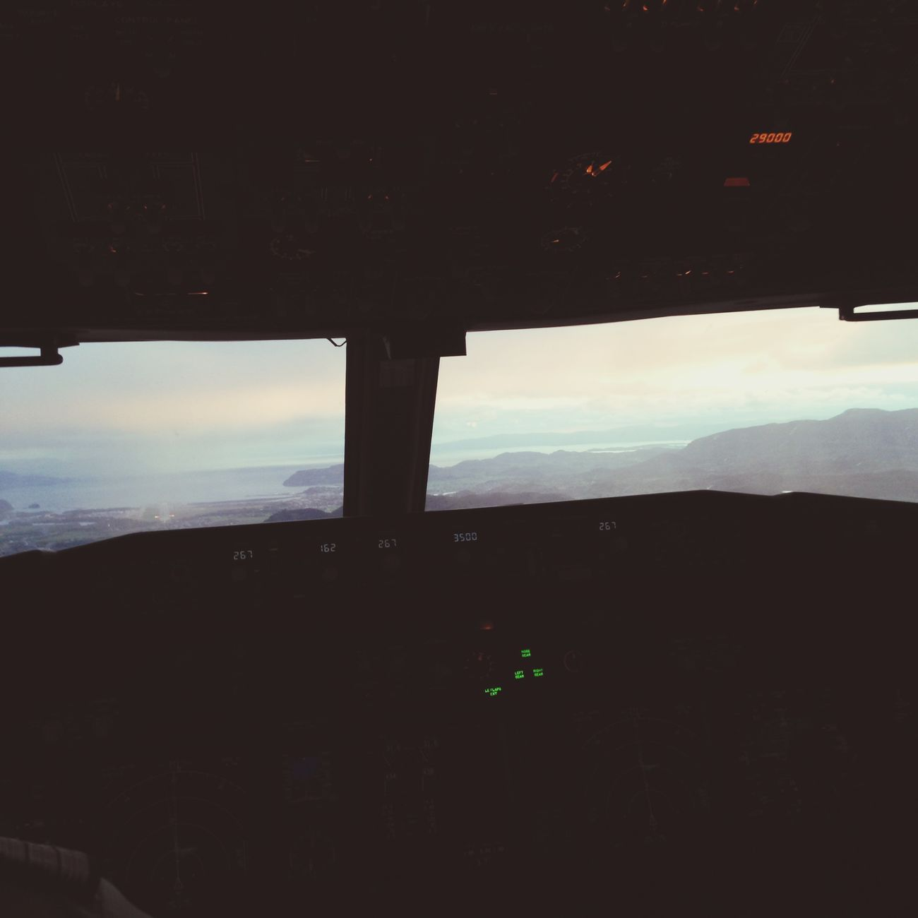 From the cockpit... Planes Boeing 737 Fromthesky Amazing View Sun Sunset Plane Værnes