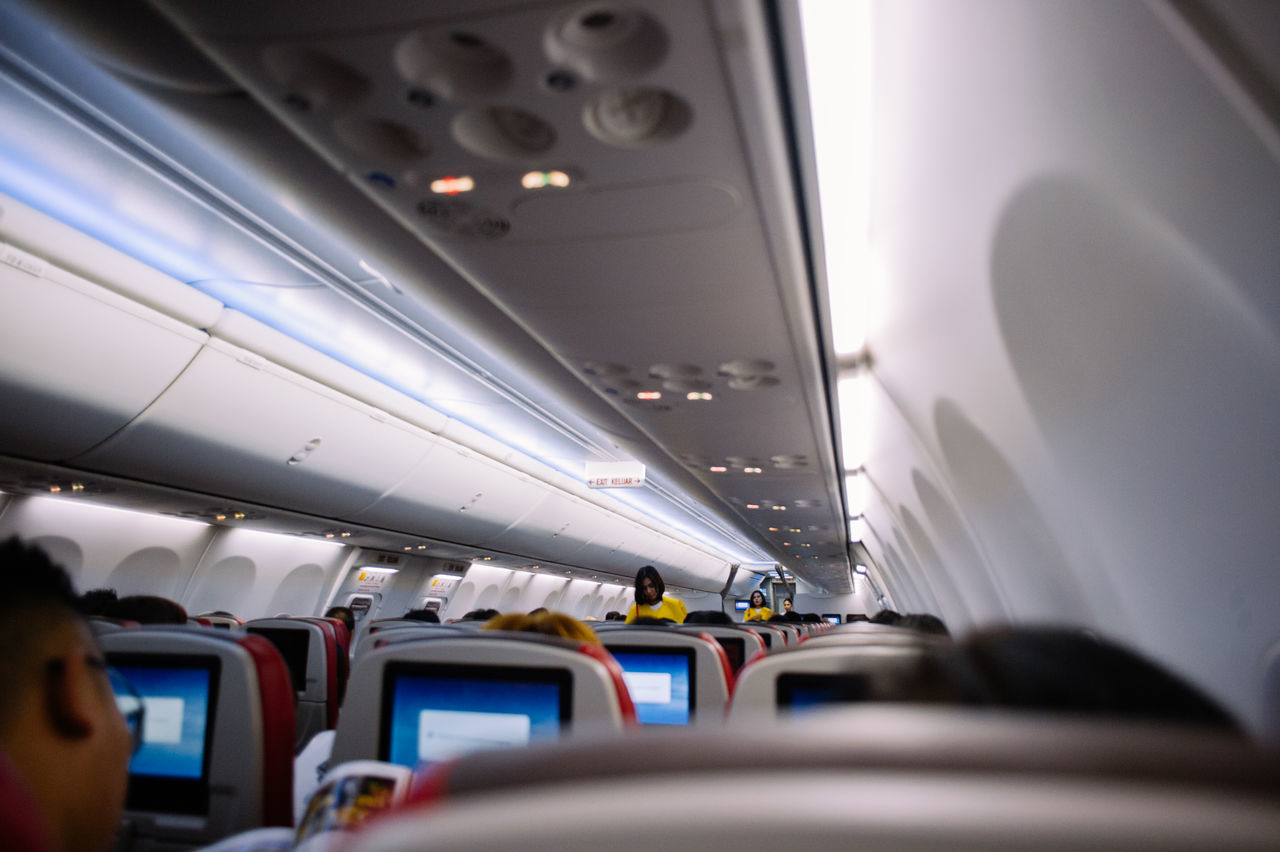 Aerospace Industry Air Vehicle Airplane Airplane Seat Airport Business Finance And Industry Day Indoors  Mode Of Transport People Public Transportation Transportation Vehicle Interior