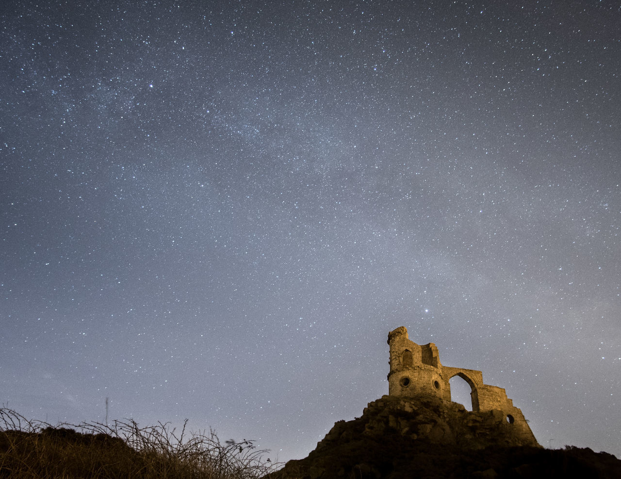 Star - Space Sky Astronomy Night Milky Way Beauty In Nature Galaxy Space And Astronomy Constellation Scenics Space Ancient Nature Outdoors Tree Star Field No People Architecture Astrology Sign Mow Cop Castle Milkyway