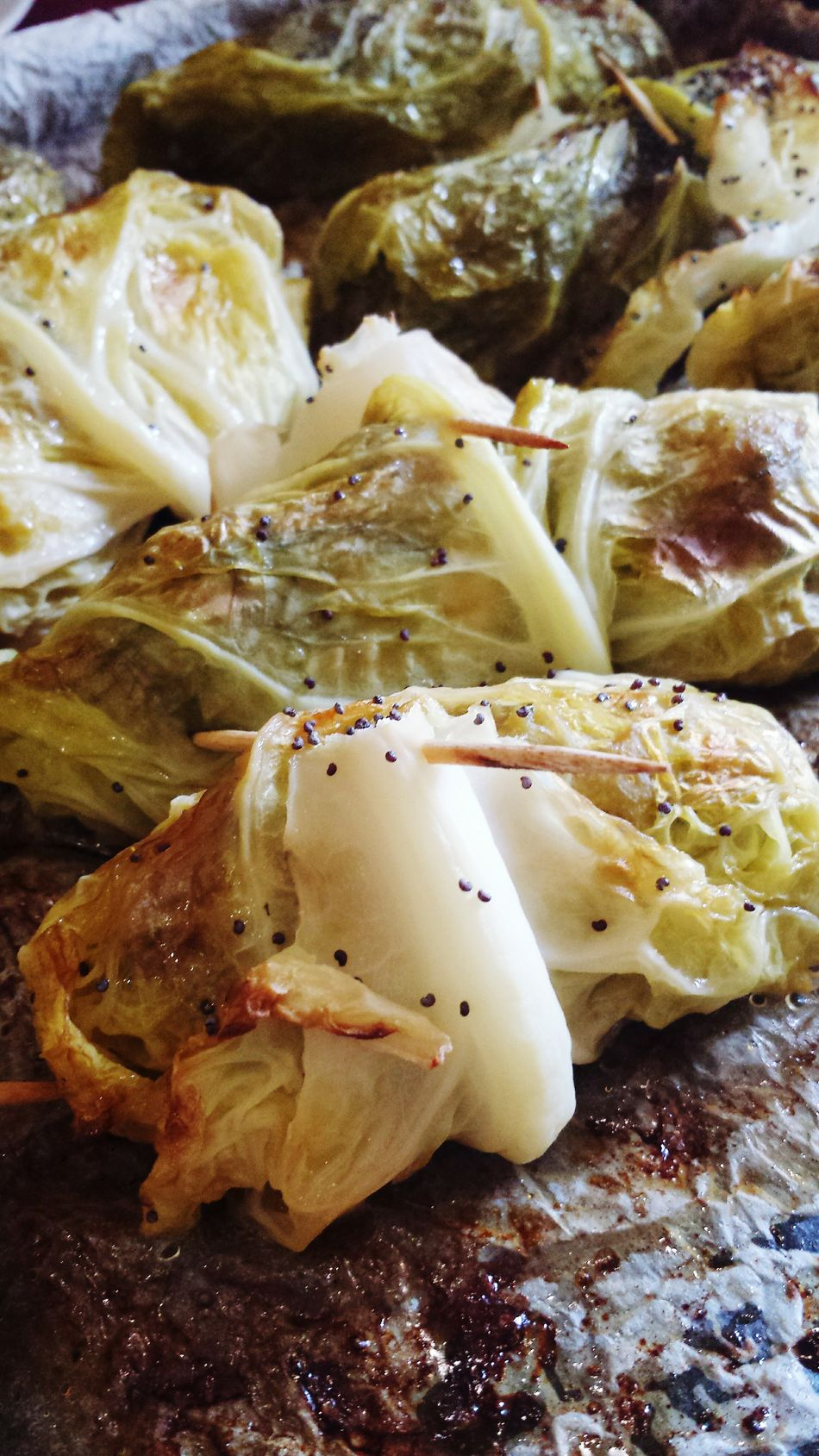 Food Porn Awards Autumn Flavor Savoy Cabbage Rolls Halloween Italian Food Enjoying A Meal