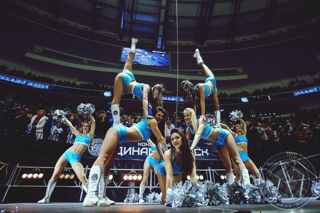 Showcase: January Hockey Dinamo , Dinamominsk , Cheerleaders :) Cheerleading