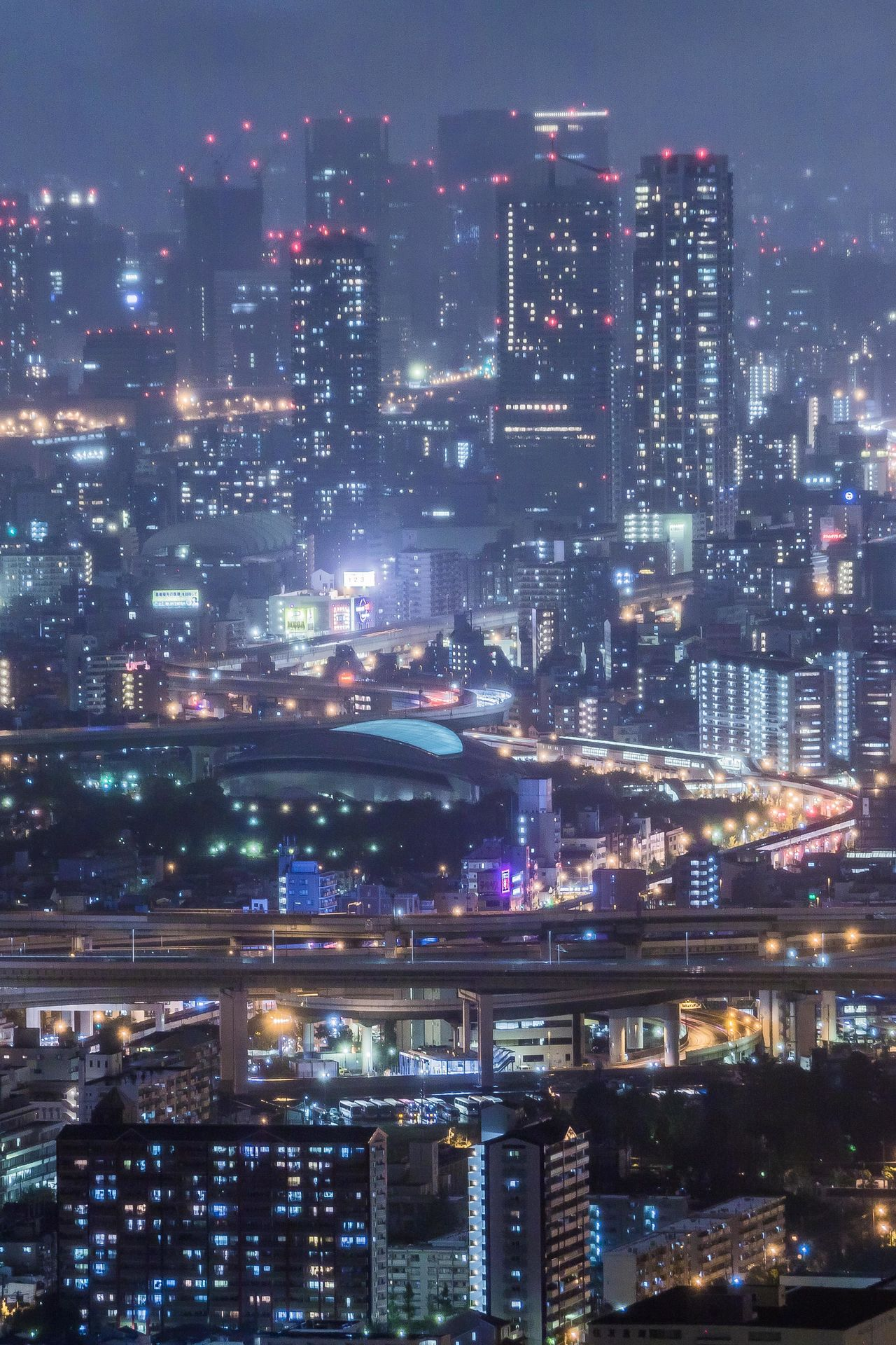大阪弁天町インターチェンジ付近 Osaka Night View OSAKA From My Point Of View My Favourite Place Nightphotography Night Photography My Fevorite Place City Life Light Tail Light And Shadow