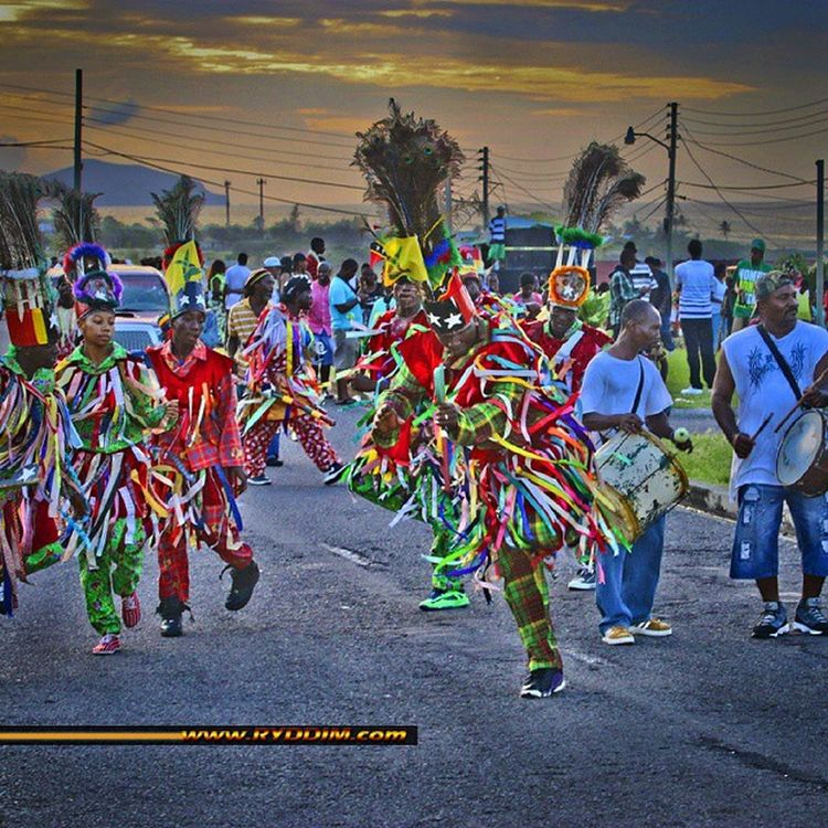 Masqueraders in action at Saddle Fiesta 2014. StKitts Saddlers Saddlefiesta Streetphotography Canoneos70D Caribbeancarnival Caribbeanculture