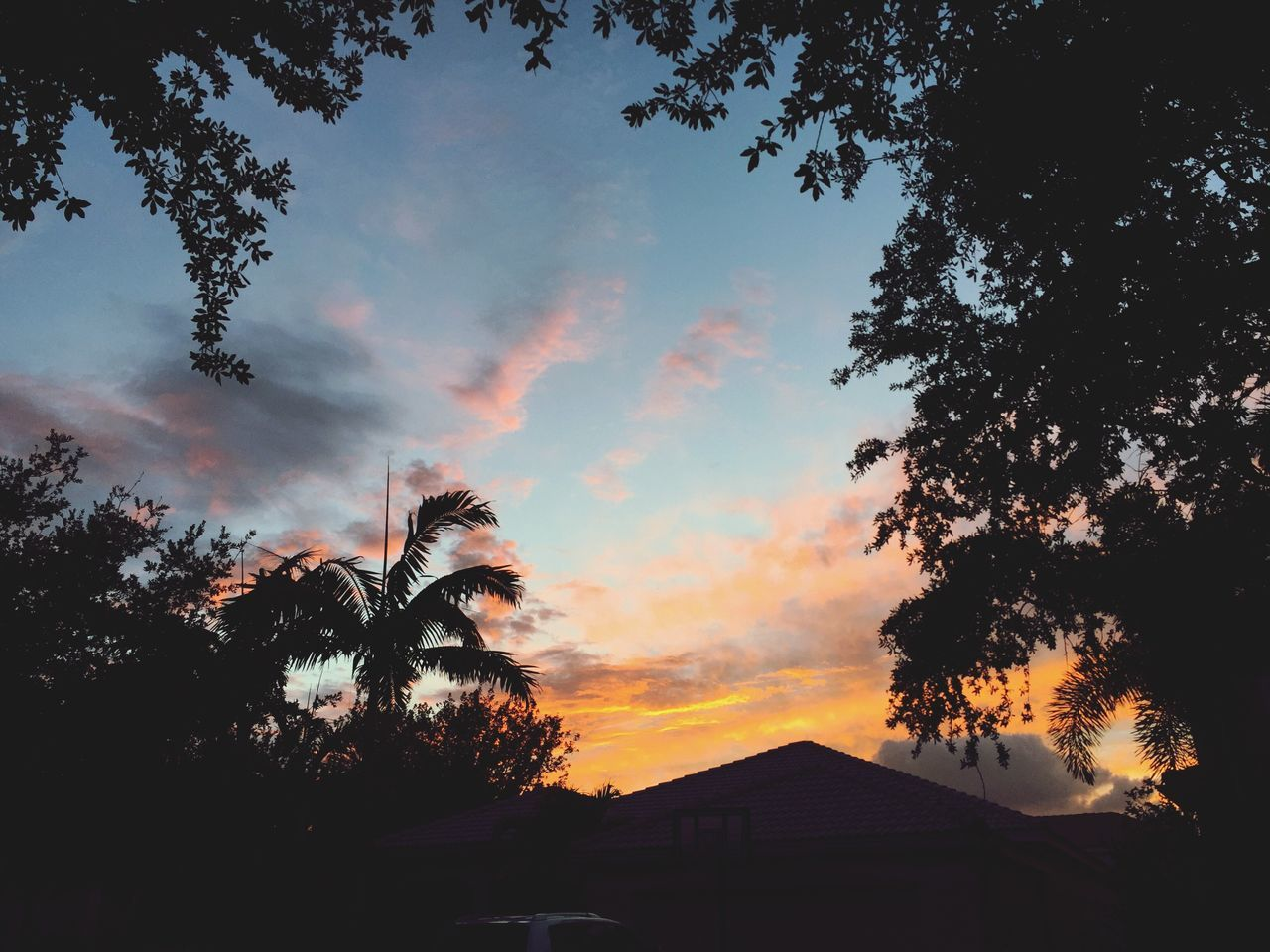 Sunset Florida Florida Sunset Nature Yellow Sky Orange Sky Pink Sky Multi Colored Sunset And Clouds  Love Pretty Weston