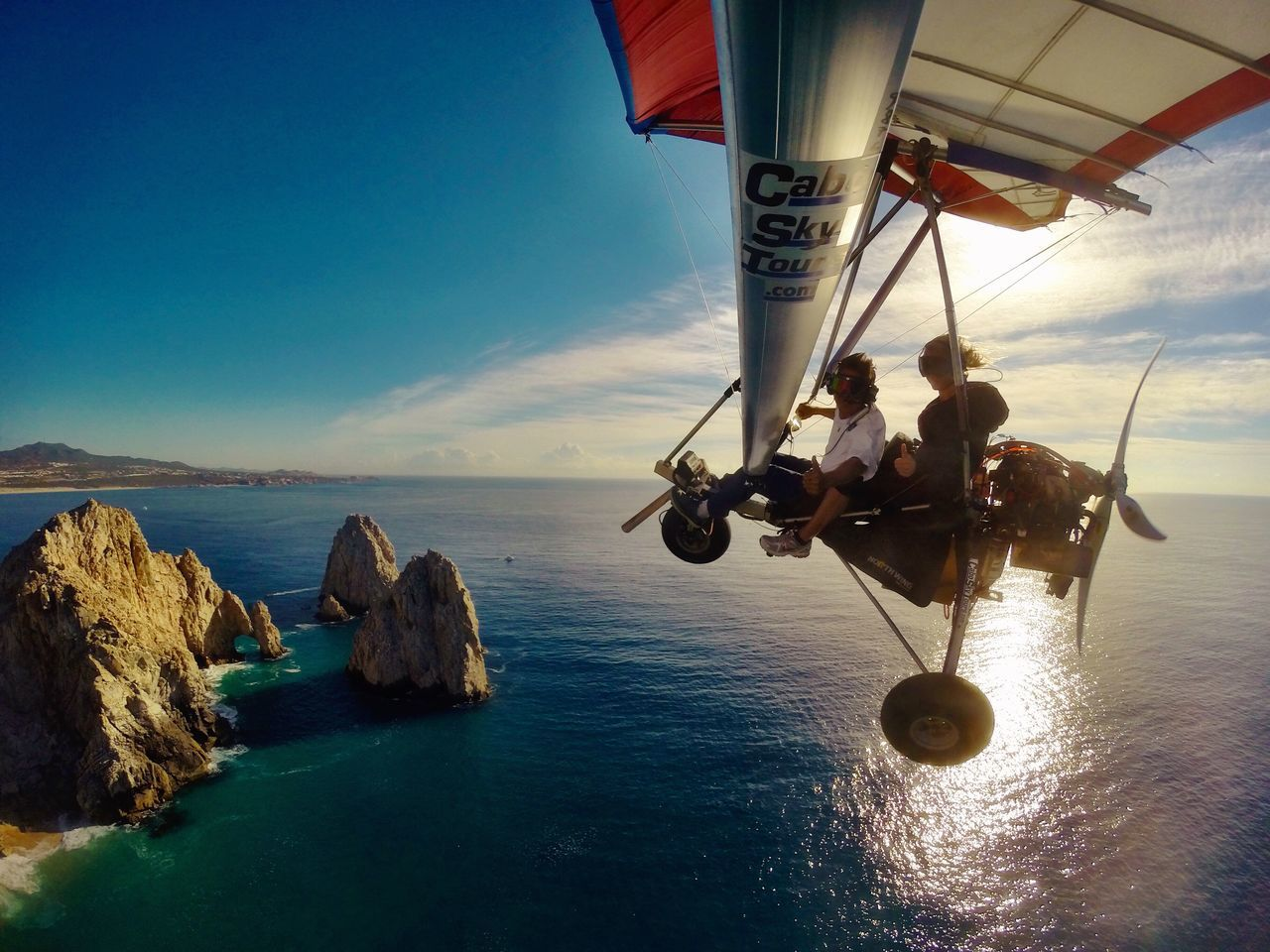 LandsEnd Sea Real People Water Horizon Over Water Transportation Nature Adventure Scenics Vacations Extreme Sports Mexico Bajacalifornia Travel Adrenaline Adrenaline Junkie Fly Away Skydiving LosCabos Determination Togetherness Fly