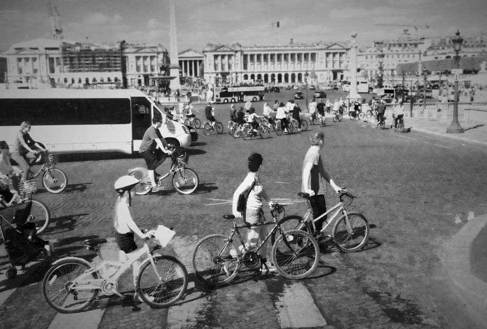 Bike in Paris . Black And White