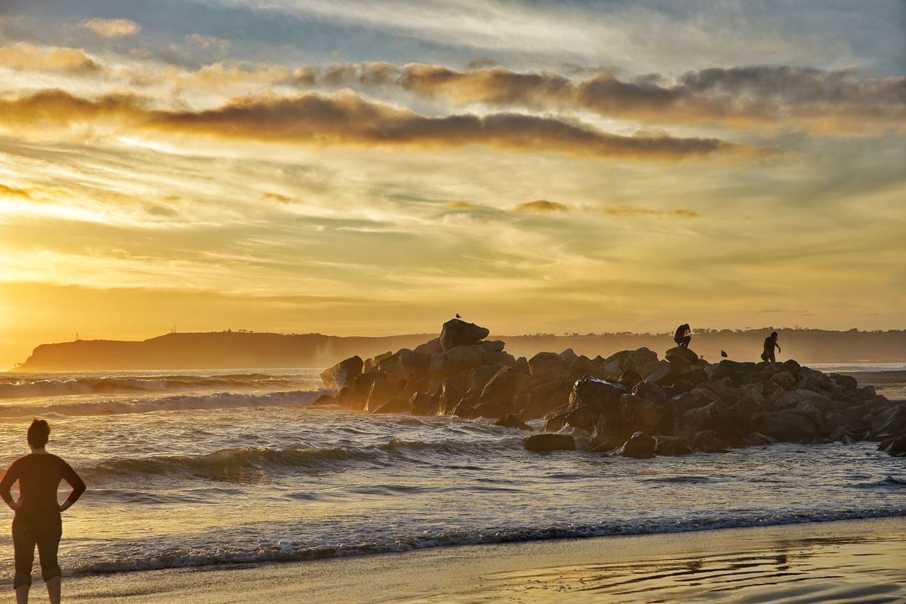 San Diego's sunset Sea Beach Beauty In Nature Sunset Travel Destinations Nature Rock - Object Scenics Cloud - Sky Wave Outdoors Vacations Sky No People Day Sony A7RII Canon 24-70