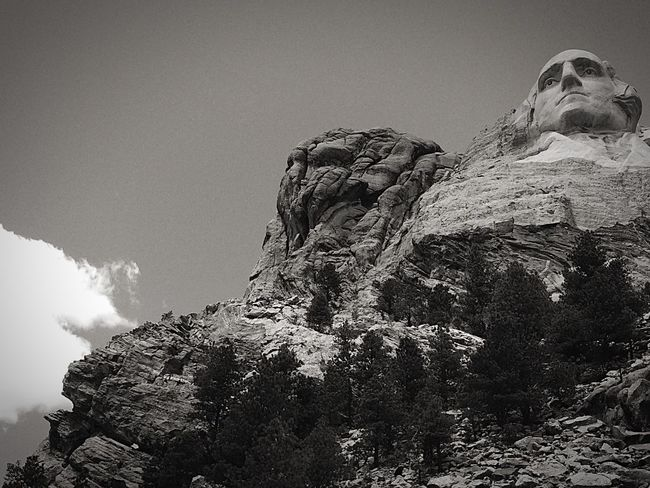 George Washington Mount Rushmore South Dakota Check This Out Blackandwhite Throughmyeyes IPhone 5S IPhoneography Hiking Beauty Monument Monument Of The United States Man Made Beyond Fantastic