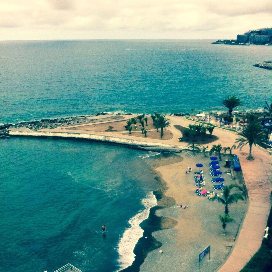 The beach at my apartment in Gran Canaria