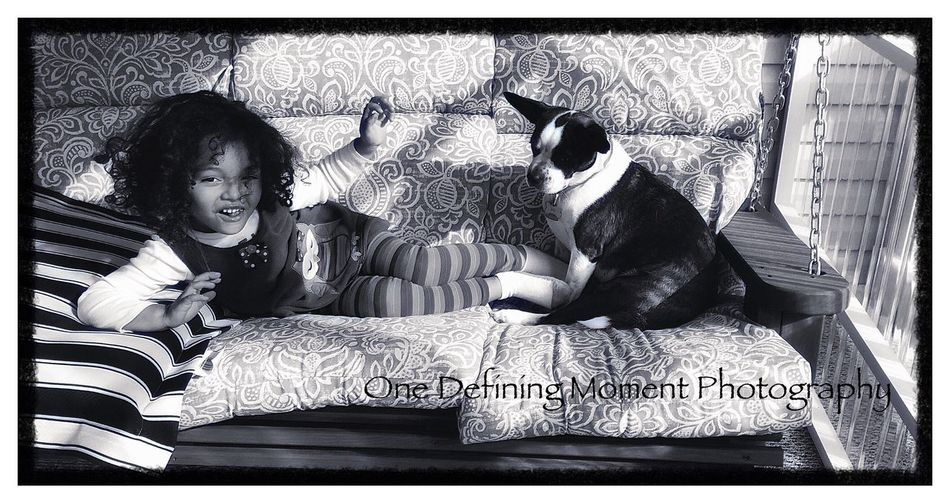 Two little Girls on a Porch Swing Natural Lighting Photography Peaceful Place Capture The Moment Authentic Moments IPhoneography Natural Light Photography Precious Moments Of Life Children Photography Dogs Dogslife Children Kids Being Kids Kids And Dogs Porch Life Porchswing My Granddaughter