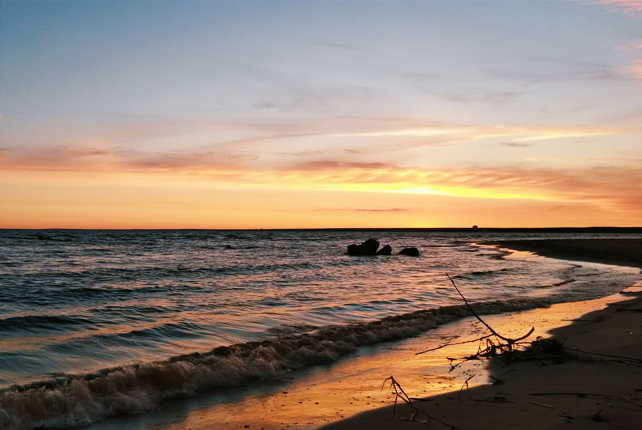 Sunset Summer Nature Beautiful Nature Gulf Of Finland Sestroretsk Leningradskaya Oblast Nature_collection