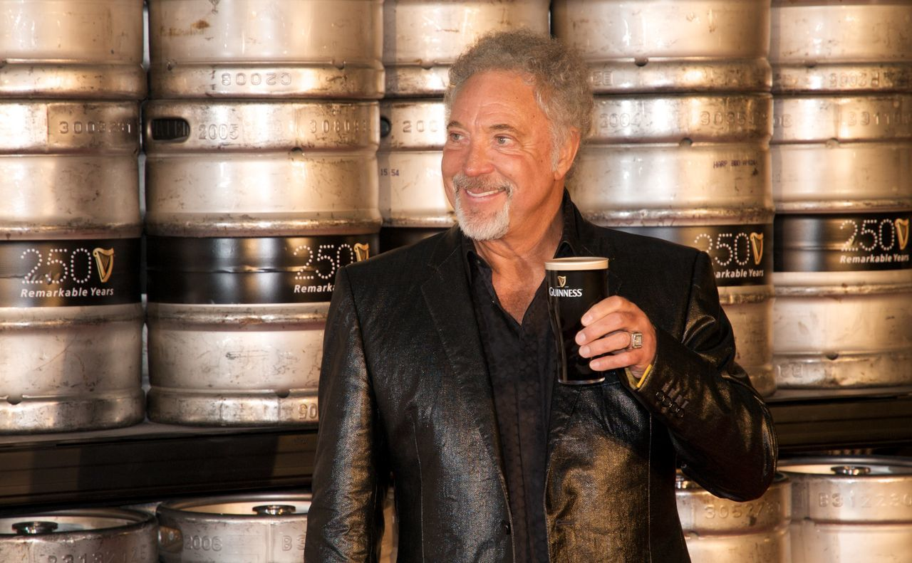Casual Clothing Celebrity Close-up Guinness Leisure Activity Lifestyles Retail  Shop Store Tom Jones