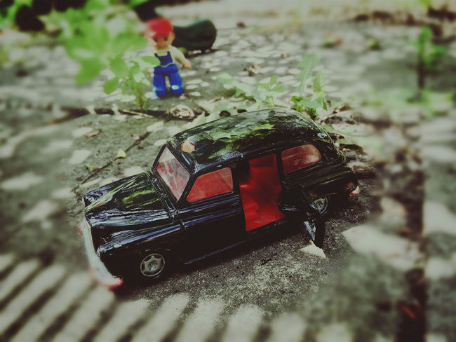 Black Cab Black Color Bob The Builder Close-up Day Leisure Activity Lifestyles Nature Outdoors Taxi Tilt & Shift Toy Car Waiting For A Cab