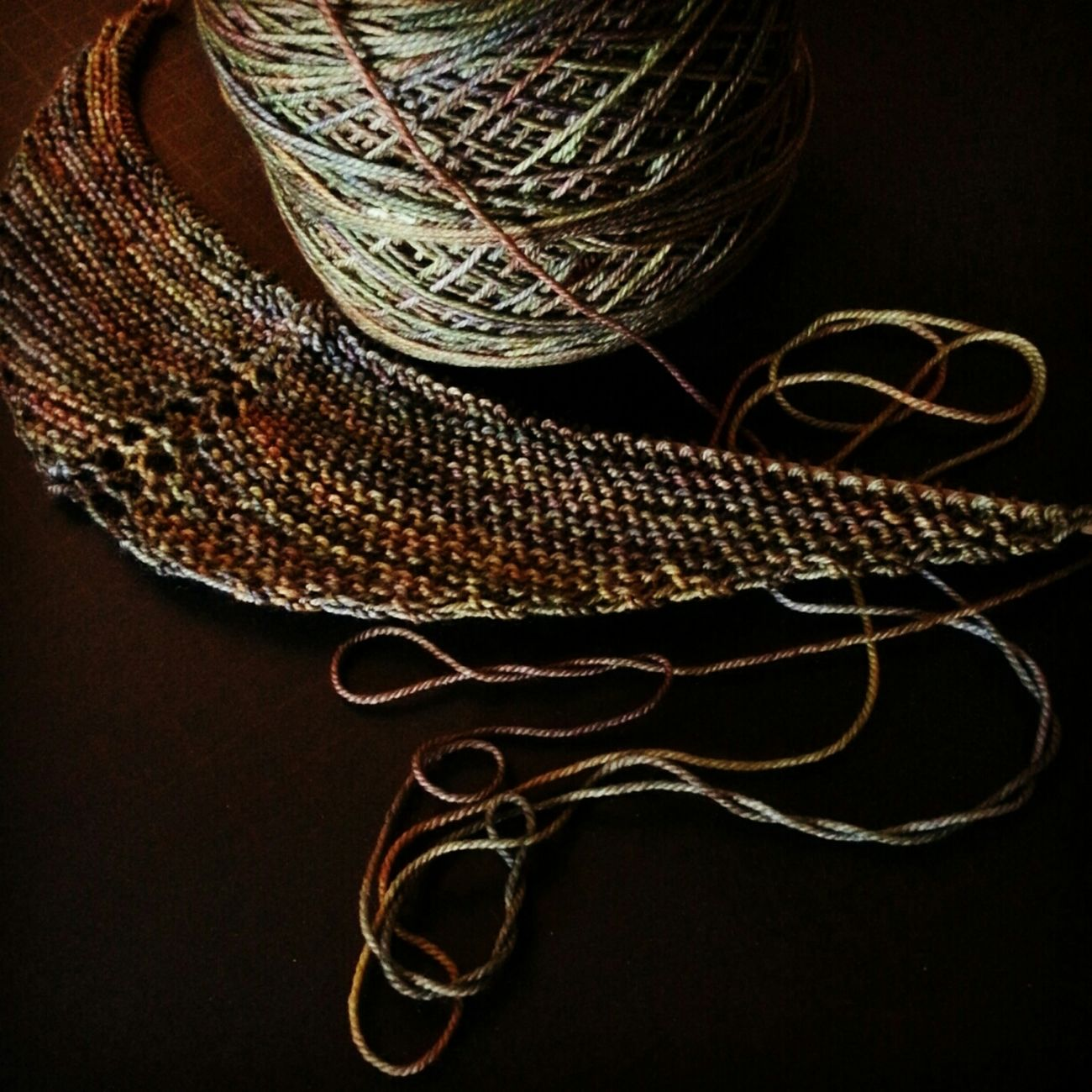 Morning light. WIP. KAL  Malabrigo  Knitting