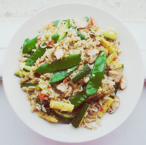 Fried Rice Chicken Leftovers Dinner